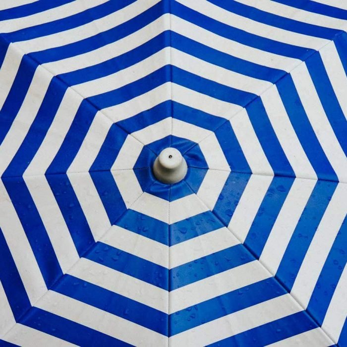 Blue Summer Umbrella